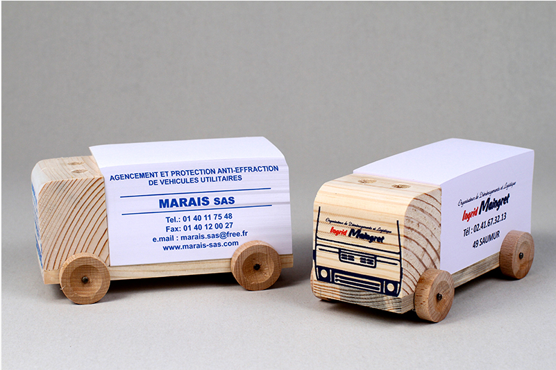 Bloc papier personnalisé Camion - Made in France